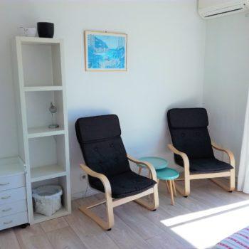 Relaxing area in the bedroom