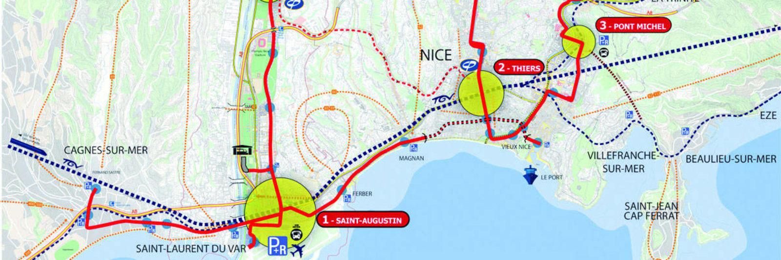 Plan tramway Nice